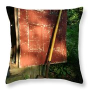 Morning Light On The Door Of An Old Throw Pillow by Stephen St. John