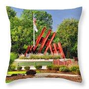 Morris Plains September 11th Memorial Throw Pillow by Nick Zelinsky