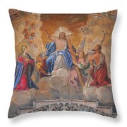 Mosaic In San Marco Square Venice Throw Pillow by Bill Cannon