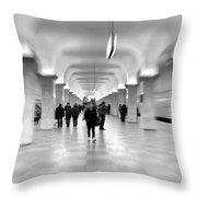 Moscow Underground Throw Pillow by Stelios Kleanthous