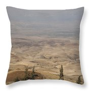 Moses First Saw The The Holy Land Throw Pillow by Taylor S. Kennedy