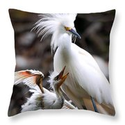 Mother And Child Throw Pillow by Kenneth Albin
