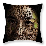 Mother Earth Throw Pillow by Christopher Gaston