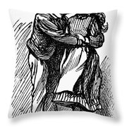 Mother Goose: Kiss Throw Pillow by Granger