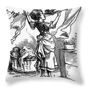 Mother Goose: Maid Throw Pillow by Granger