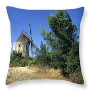 Moulin of Daudet. Fontvieille. Provence Throw Pillow by BERNARD JAUBERT