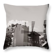 Moulin Rouge Throw Pillow by Andrew Fare