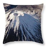 Mount Ngauruhoe Tongariro Np New Zealand Throw Pillow by Colin Monteath