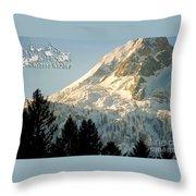 Mountain Christmas 2 Austria Europe Throw Pillow by Sabine Jacobs