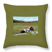 Mountain Farm Throw Pillow by John Turner