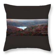 Mountain Lake Throw Pillow by Michael Waters