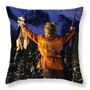 Mountain Man 1 Throw Pillow by Bob Christopher