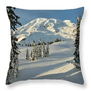 Mountainous Landscape In Mt. Rainer Throw Pillow by Raymond Gehman
