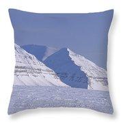 Mountains Above Kings Glacier Throw Pillow by Gordon Wiltsie