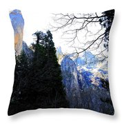 Mountains of Yosemite . 7D6213 Throw Pillow by Wingsdomain Art and Photography
