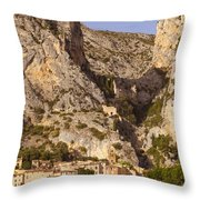 Moustier-Sainte-Marie Throw Pillow by Brian Jannsen