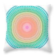 Multicolor Circle Throw Pillow by Atiketta Sangasaeng