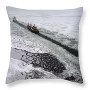 Multinational Fleet Of Icebreakers Throw Pillow by Cotton Coulson