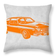 Muscle Car Throw Pillow by Naxart Studio