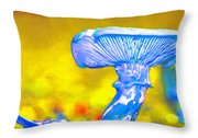 Mushroom Whimsy  Throw Pillow by Marie Jamieson