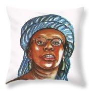 Musimbi Kanyoro Throw Pillow by Emmanuel Baliyanga