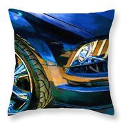 Mustang Throw Pillow by Robert Smith