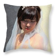 My Big Day Throw Pillow by Mariola Bitner
