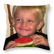 My First Watermelon Throw Pillow by Dale   Ford