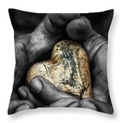 my hands your hard Throw Pillow by Stylianos Kleanthous