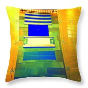My Vegas City Center 40 Throw Pillow by Randall Weidner