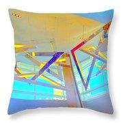 My Vegas City Center 42 Throw Pillow by Randall Weidner