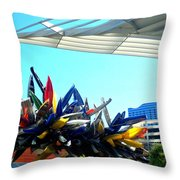 My Vegas City Center 58 Throw Pillow by Randall Weidner