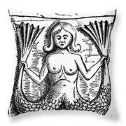Mythology: Mermaid Throw Pillow by Granger