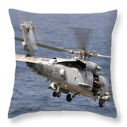 N Hh-60h Sea Hawk Helicopter In Flight Throw Pillow by Stocktrek Images