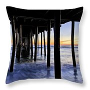 Nags Head Pier - A Different View Throw Pillow by Rob Travis