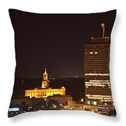 Nashville Cityscape 5 Throw Pillow by Douglas Barnett
