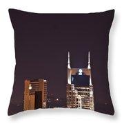 Nashville Cityscape 6 Throw Pillow by Douglas Barnett