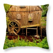 Nathaniel Thomas Mill Throw Pillow by Catherine Reusch  Daley