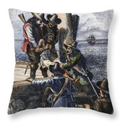Native American Slave Throw Pillow by Granger
