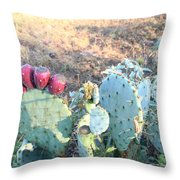 Nature Finds A Way Throw Pillow by Lorri Crossno
