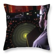 Navy Petty Officer Students Practice Throw Pillow by Michael Wood
