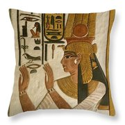 Nefertari Tomb Scenes, Valley Throw Pillow by Kenneth Garrett