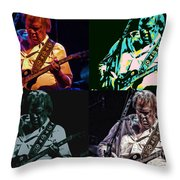 Neil Young Pop Throw Pillow by Tommy Anderson