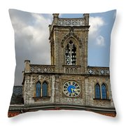 Neo-gothic Weimarer City Hall Throw Pillow by Christine Till