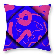 Neon Out Of Bounds Throw Pillow by Carolyn Marshall