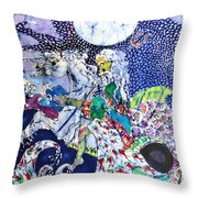 Neptune Rides The Sea Throw Pillow by Carol Law Conklin