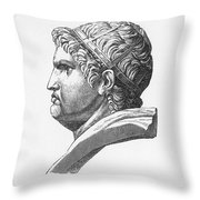 Nero (37-68 A.d.) Throw Pillow by Granger