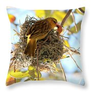 Nesting Instinct Throw Pillow by Carol Groenen