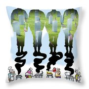 Never Forget Throw Pillow by Mark Armstrong