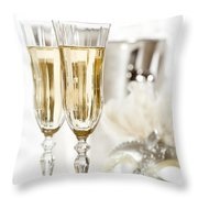 New Year Champagne Throw Pillow by Amanda Elwell